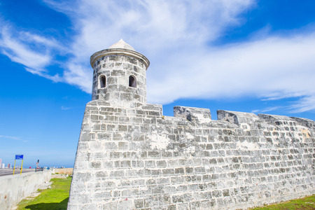 HAVANA , CUBA - JULY 18 : The Morro castle in Havana, Cuba on July 18 2016. The castle was built by the Spaniards in the years 1589 to 1630
