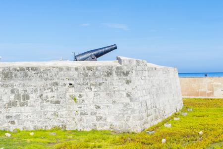 spaniards: HAVANA , CUBA - JULY 18 : The Morro castle in Havana, Cuba on July 18 2016. The castle was built by the Spaniards in the years 1589 to 1630