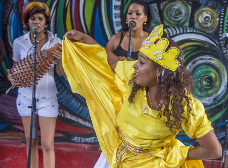 rhythm rhythmic: HAVANA, CUBA - JULY 18 : Rumba dancer in Havana Cuba on July 18 2016. Rumba is a secular genre of Cuban music involving dance, percussion, and song. It originated in the northern regions of Cuba