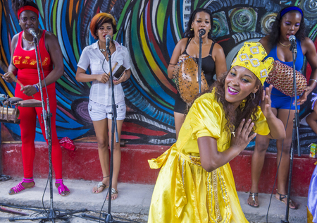 genre: HAVANA, CUBA - JULY 18 : Rumba dancer in Havana Cuba on July 18 2016. Rumba is a secular genre of Cuban music involving dance, percussion, and song. It originated in the northern regions of Cuba