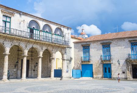 HAVANA , CUBA - JULY 18 : Plaza de Armas in old town of Havana Cuba on July 18 2016. The historic center of Havana is UNESCO World Heritage Site since 1982. Editorial