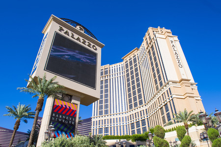 nv: LAS VEGAS - MAY 21 : The Palazzo hotel and Casino in Las Vegas on May 21 2016. Palazzo hotel opened in 2008 and it is the tallest completed building in Las Vegas