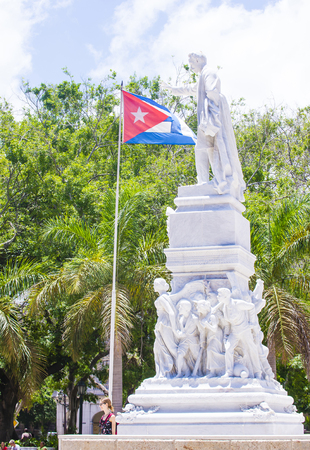 national poet: HAVANA, CUBA - JULY 18 : The Jose Marti monument in the Central Park of Havana on July 18 2016.  Jose Marti is a Cuban national hero