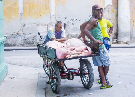 rikscha: HAVANA, CUBA - JULY 18 : A Cuban rickshaw driver in old Havana street on July 18 2016.  Rickshaw are a popular way of transport in Cuba