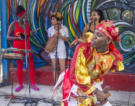 rumba: HAVANA, CUBA - JULY 18 : Rumba dancer in Havana Cuba on July 18 2016. Rumba is a secular genre of Cuban music involving dance, percussion, and song. It originated in the northern regions of Cuba