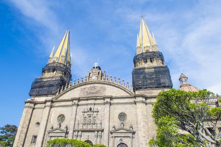 GUADALAJARA , MEXICO - AUG 29 : The Guadalajara Cathedral in Guadalajara , Mexico. on August 29 2016.  The cathedral was built in 1541 Editorial