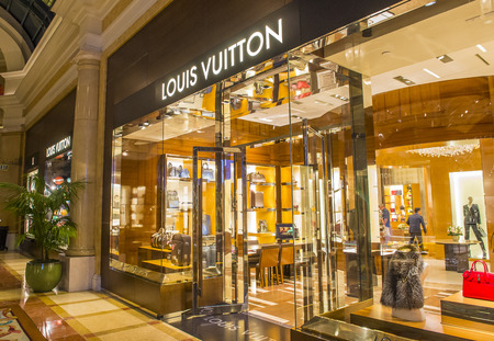 LAS VEGAS - OCT 05 : Exterior of a Louis Vuitton store in Las Vegas strip on October 05 , 2016. The Louis Vuitton company operates in 50 countries with more than 460 stores worldwide