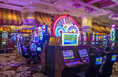 bellagio fountains: LAS VEGAS - OCT 05 : The interior of Bellagio hotel and casino on October 05 , 2016 in Las Vegas. Bellagio is a luxury hotel and casino located on the Las Vegas Strip. The Bellagio opened on 1998.
