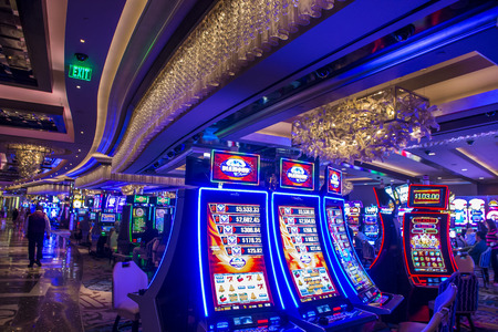 nv: LAS VEGAS - OCT 05 : The Interior of Cosmopolitan hotel and casino on October 05 2016 in Las Vegas. The Cosmopolitan opened in 2010 and it has 2,995 rooms and 75,000 sq ft casino.