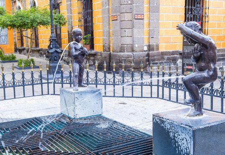 GUADALAJARA , MEXICO - AUG 29 : The Fuente De Los Ninos Miones in Guadalajara Mexico on August 29 2016. Guadalajara is the capital and largest city of the Mexican state of Jalisco Editorial