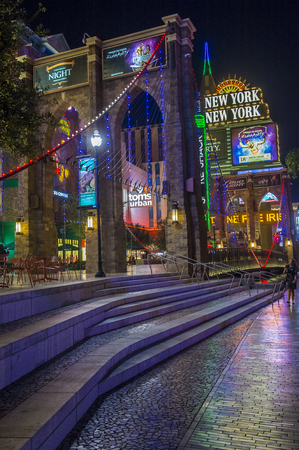 LAS VEGAS - NOV 08 : New York-New York Hotel & Casino in Las Vegas on November 08 2016 , This hotel simulates the real New York City skyline and It was opened in 1997. Editorial