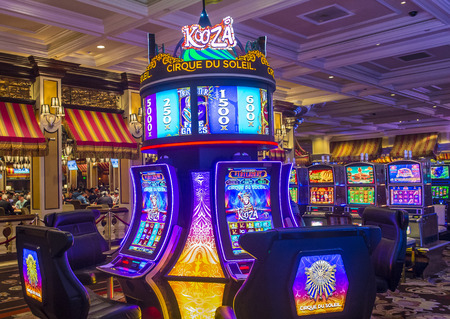 nv: LAS VEGAS - OCT 05 : The interior of Bellagio hotel and casino on October 05 , 2016 in Las Vegas. Bellagio is a luxury hotel and casino located on the Las Vegas Strip. The Bellagio opened on 1998.