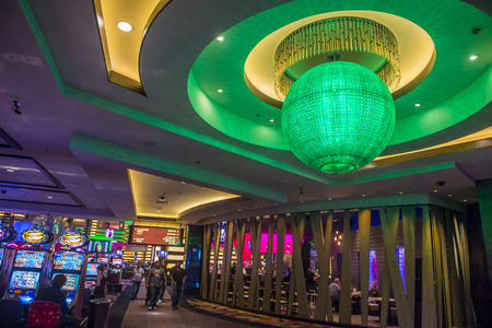 LAS VEGAS - OCT 05 : The interior of Planet Hollywood hotel and Casino on October 05 , 2016 in Las Vegas. Planet Hollywood has over 2,500 rooms and it located on the Las Vegas strip.