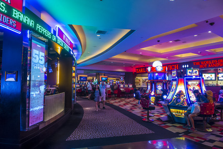 nv: LAS VEGAS - OCT 05 : The interior of Planet Hollywood hotel and Casino on October 05 , 2016 in Las Vegas. Planet Hollywood has over 2,500 rooms and it located on the Las Vegas strip.