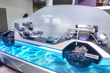 LAS VEGAS - JAN 08 : The Hyundai Mobis Concept car at the CES Show in Las Vegas, Navada, on January 08, 2017. CES is the world's leading consumer-electronics show. Editorial