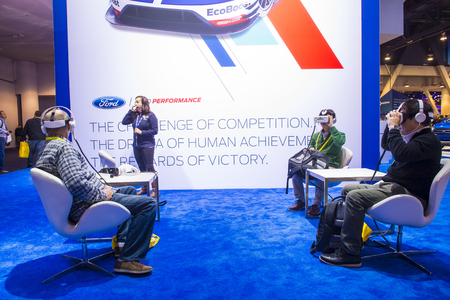 LAS VEGAS - JAN 08 : The Ford booth at the CES Show in Las Vegas, Navada, on January 08, 2017. CES is the world's leading consumer-electronics show.