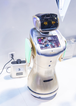 LAS VEGAS - JAN 08 : Robot at the CES Show in Las Vegas, Navada, on January 08, 2017. CES is the world's leading consumer-electronics show