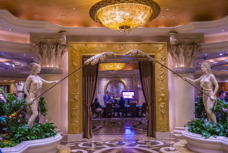 LAS VEGAS - NOV 24 : The Caesars Palace interior on October 05 2016 in Las Vegas. Caesars Palace is a luxury hotel and casino located on the Las Vegas Strip. Caesars has 3,348 rooms in five towers