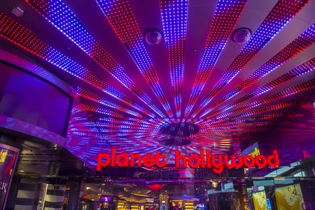 LAS VEGAS - NOV 24 : Planet Hollywood Resort and Casino in Las Vegas on November 24 2016. Planet Hollywood has over 2,500 rooms available and it located on Las Vegas Boulevard.