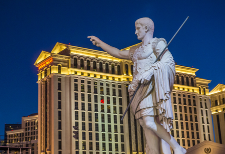 nv: LAS VEGAS - OCT 05 : The Caesars Palace hotel and casino on October 05 , 2016 in Las Vegas. Caesars Palace is a luxury hotel and casino located on the Las Vegas Strip. Caesars has 3,348 rooms in five towers
