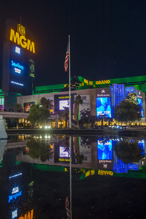 nv: LAS VEGAS - NOV 24 : MGM hotel and casino on November 24, 2016 in Las Vegas. The MGM Grand is the third largest hotel in the world and the largest hotel resort complex in the USA Editorial