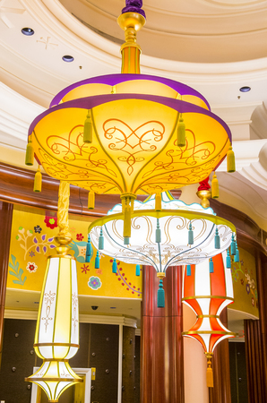 nv: LAS VEGAS - JAN 08 : The Parasol Down bar at the Wynn Hotel and casino in Las vegas on January 08 2017. The Wynn hotel has 2,716 rooms and it opened in 2005.