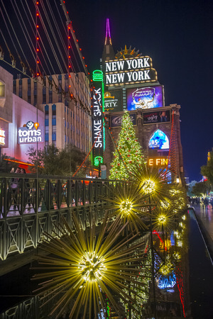 LAS VEGAS - NOV 24 : New York-New York Hotel & Casino in Las Vegas on November 24 2016 , This hotel simulates the real New York City skyline and It was opened in 1997.