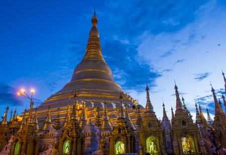 sep: YANGON , MYANMAR - SEP 12 : Shwedagon Pagoda in Yangon, Myanmar on September 12 2017 , Shwedagon Pagoda is the most sacred Buddhist pagoda in Myanmar