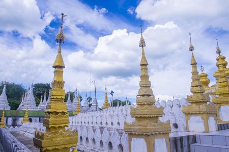 sep: MANDALAY , MYANMAR - SEP 02 : Sandamuni Pagoda in Mandalay, Myanmar on September 02 2017 , Sandamuni Pagoda is a Buddhist stupa located southwest of Mandalay Hill