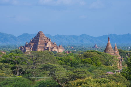BAGAN , MYANMAR - SEP 04 2017: The Temples of bagan in Myanmar on September 04 2017 , The ruins of Bagan has 2,200 temples and pagodas Editorial