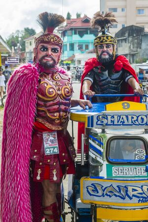 BOAC , PHILIPPINES - MARCH 30 : Participants in the Moriones festival in Boac Marinduque island the Philippines. The Moriones festival held anualy on the Holy Week