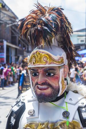BOAC , PHILIPPINES - MARCH 30 : Participant in the Moriones festival in Boac Marinduque island the Philippines. The Moriones festival held anualy on the Holy Week