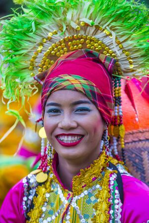 MANILA , PHILIPPINES - APRIL 27 :Participant in the Aliwan fiesta in Manila Philippines on April 27 2019. Aliwan Fiesta is an annual event that gathers different cultural festivals of the Philippines