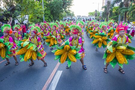 MANILA , PHILIPPINES - APRIL 27 :Participants in the Aliwan fiesta in Manila Philippines on April 27 2019. Aliwan Fiesta is an annual event that gathers different cultural festivals of the Philippines