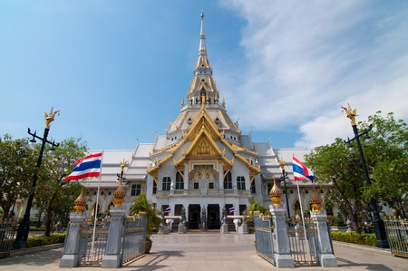 Sothorn temple at Chachoengsao province, Thailand.
