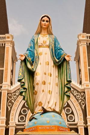 Virgin mary statue at Chantaburi province, Thailand. Stock Photo - 8189414