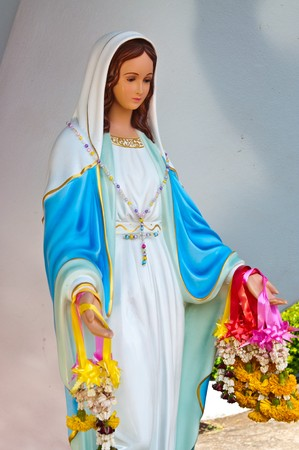 Virgin mary statue at Chantaburi province, Thailand.