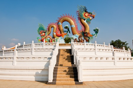 Dragon statue at Nakhonsawan province in Thailand.