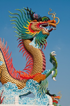 Dragon statue at Nakhonsawan province in Thailand. photo