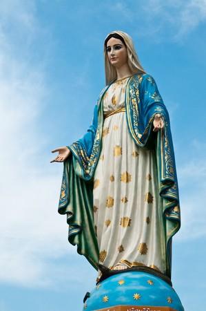 jungfrau maria: Statue der Jungfrau Maria am der Provinz Chanthaburi in Thailand. Lizenzfreie Bilder