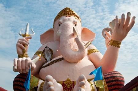 Ganesha statue at Nakhonnayok province, Thailand. photo