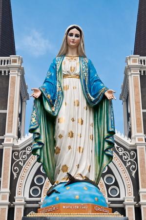 Virgin mary statue at Chantaburi province, Thailand. Stock Photo - 8200701