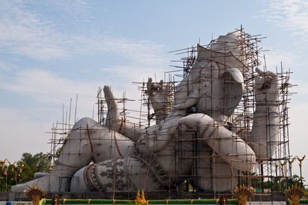 Ganesha under construction at Nakhonnayok province, Thailand.