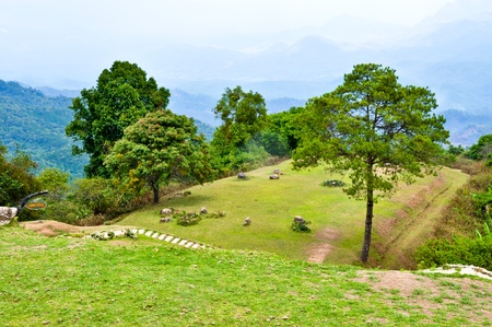Landscape of field on mountain, Chiengmai province, Thailand. Stock Photo - 8356136