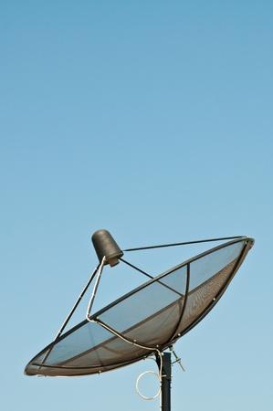 Satellite dish with blue sky, Thailand. Stock Photo