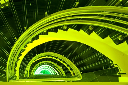 Spiral staircase in the tower, Thailand. Stock Photo