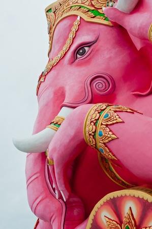 Face shot of ganesha statue, Thailand.