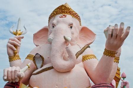 Pink ganesha statue at Nakhonnayok province, Thailand. photo