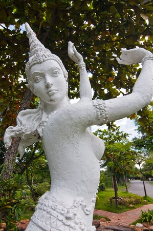 Thai style sculture in the garden, Thailand. photo