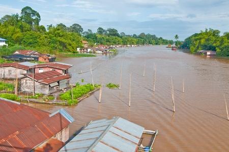 Tájkép Sakaekrang folyó, Thaiföld.